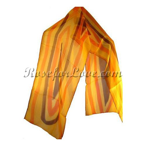 Long Stripe Silk Scarf - Click Image to Close
