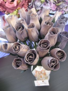 800 Wooden Rose Gray/Black Buds