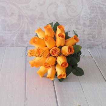 Wooden Rose Orange Bridesmaid Bouquet