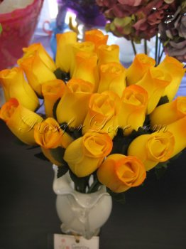 Bouquet of Wooden Rose Sunrise Yellow Buds