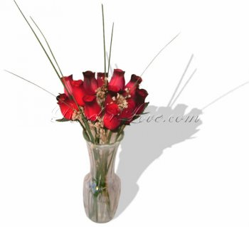 Bouquet of Wooden Rose Large Buds - The Romantic