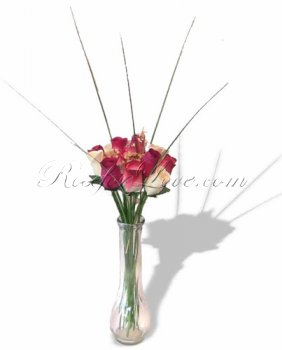 Bouquet of Wooden Rose Buds - Pure Love