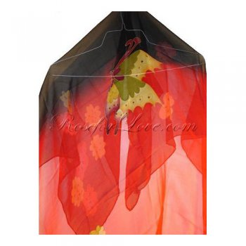 Square Butterfly Silk Scarf