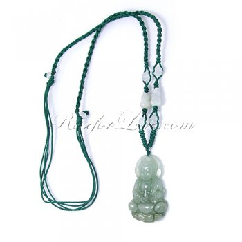 Handcrafted Jade Guan Yin Necklace